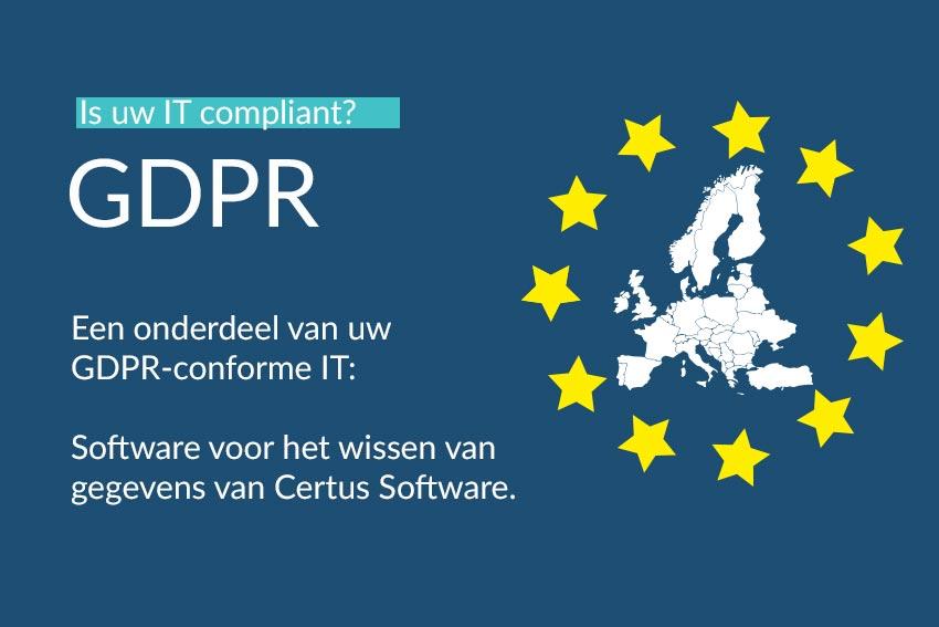 GDPR-conforme IT: Software voor het wissen van gegevens van Certus Software