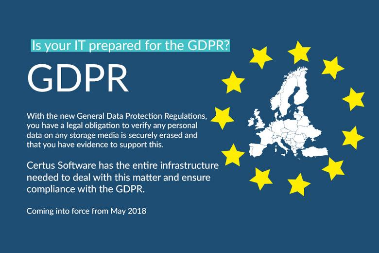 GDPR information Certus Software